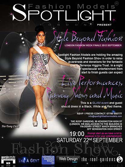 Leaflets Design for Spotlight Fashion Models Show Style Beyond Fashion ~ London